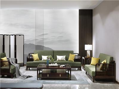老周家居 上海老周红木 印尼黑酸枝(阔叶黄檀)沙发 现代中式沙发 客厅系列