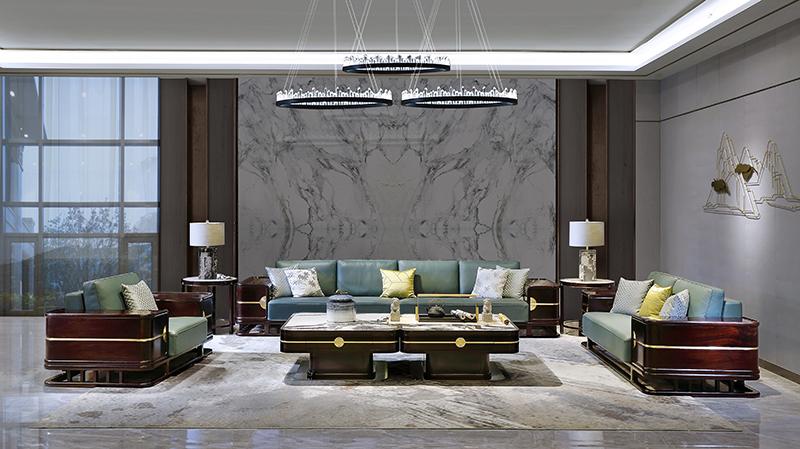 老周家居 上海老周红木 印尼黑酸枝(阔叶黄檀)客厅 大容系列现代中式沙发