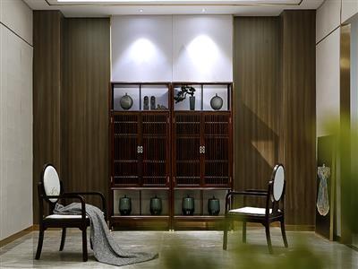 老周家居 上海老周红木 印尼黑酸枝(阔叶黄檀)红木酒柜 现代中式储物柜 间厅柜 隔厅柜