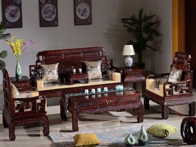 缘人缘红木 印尼黑酸枝木客厅沙发 红木客厅家具组合 中式明清古典