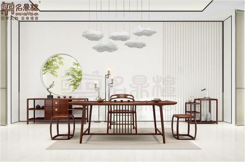 名鼎檀·逸芳系列188A现代中式茶台椅组合