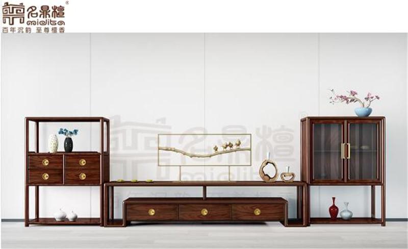 名鼎檀·逸芳系列188B现代中式客厅柜组合