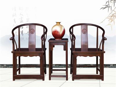 华钦红木 黑酸枝圈椅