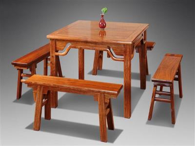 自在堂红木 八仙桌