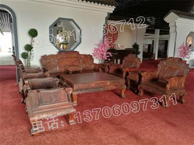 红景天老挝大红酸枝客厅沙发