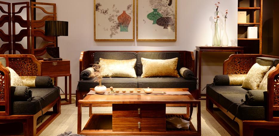 颐品堂家具 刺猬紫檀红木沙发