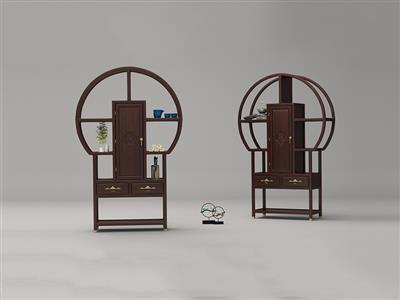 印巷森刻 黑檀 刺猬紫檀 喜上梅梢茶水架 休闲系列 客厅系列 新中式家具 红木家具
