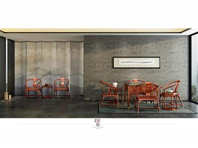 印巷森刻 黑檀 刺猬紫檀 休闲麻将桌 休闲系列 新中式家具