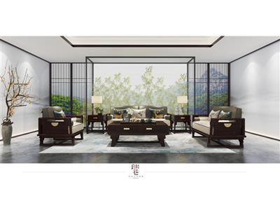 印巷森刻 黑檀 刺猬紫檀 汉风客厅沙发 客厅系列 新中式家具