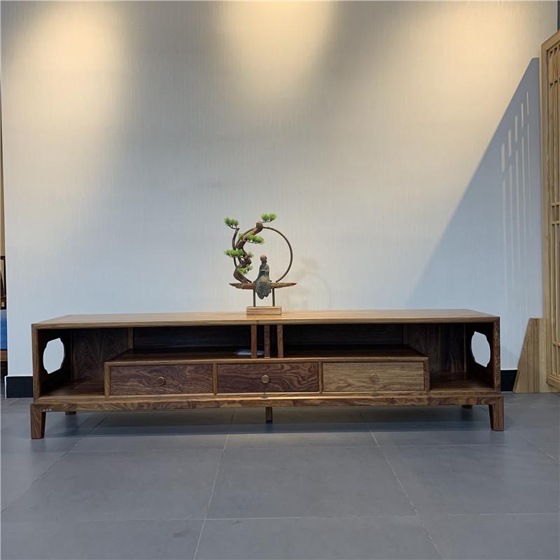 时尚轻奢款新中式刺猬紫檀多功能电视柜红木家具