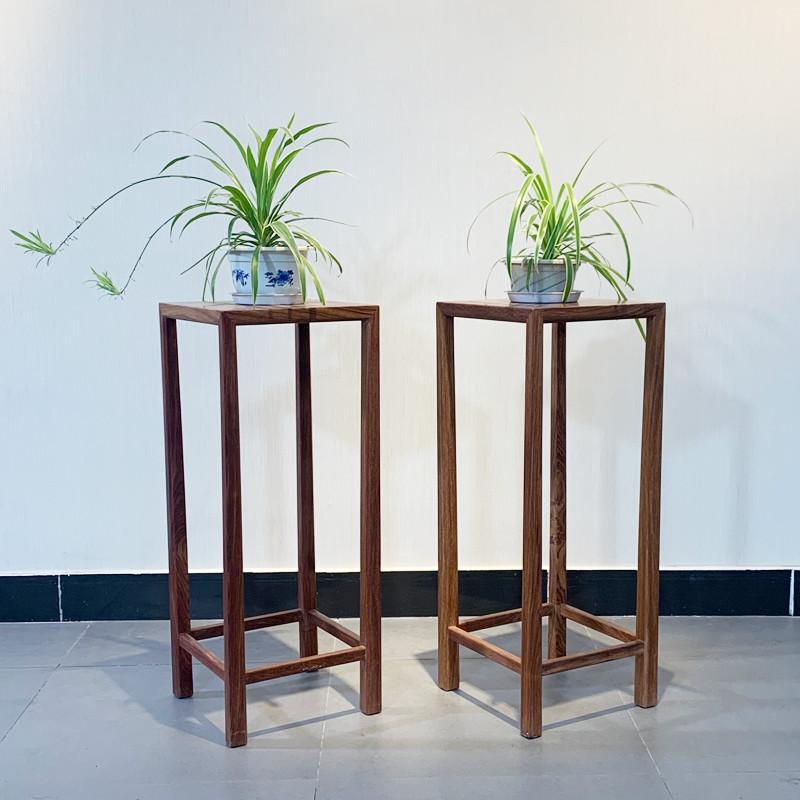 时尚轻奢款新中式刺猬紫檀简约花架红木家具