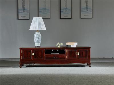 万事红 国标红木 中式古典 微凹黄檀 红酸枝 电视柜