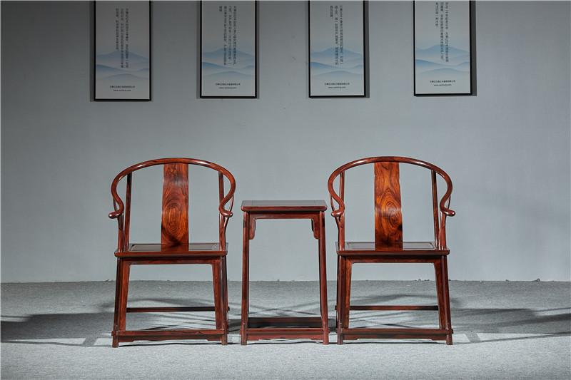 万事红 国标红木 中式古典 微凹黄檀 红酸枝 圈椅