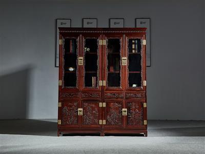 万事红 国标红木 中式古典 微凹黄檀 红酸枝 书桌