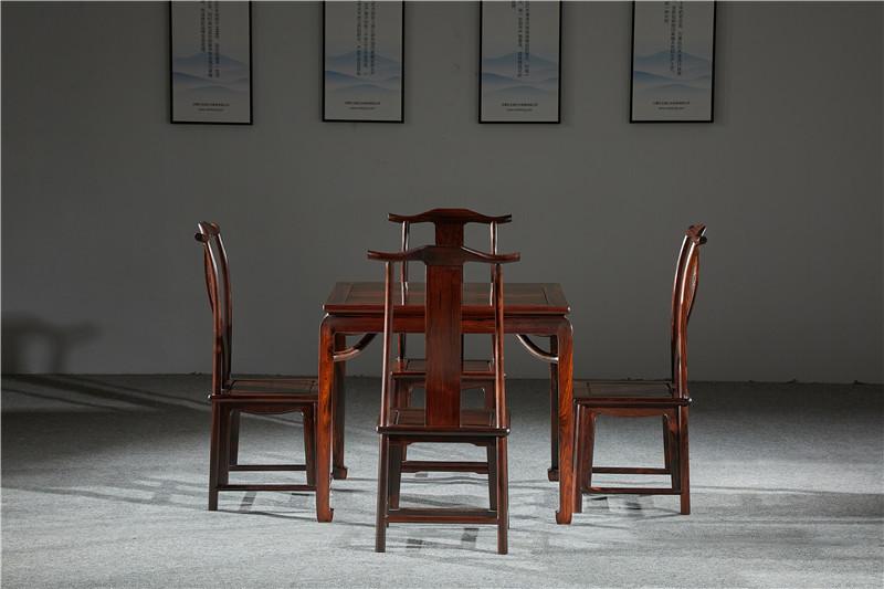 万事红 国标红木 中式古典 微凹黄檀 红酸枝 四方桌