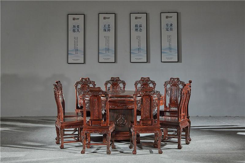 万事红 国标红木 中式古典 微凹黄檀 红酸枝 圆桌