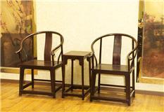 小叶紫檀 圈椅 3件套