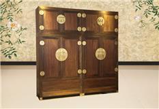 交趾黄檀 明式独板顶箱柜