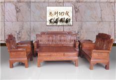 刺猬紫檀 国宝沙发 1+2+3 6/11件套
