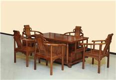 刺猬紫檀 罗马茶台 6件套