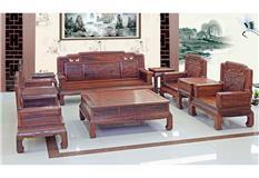黑酸枝/非洲酸枝/大果紫檀  新款花開富貴沙發10件套