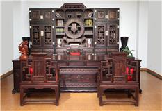 大红酸枝三组合顶箱柜3件套
