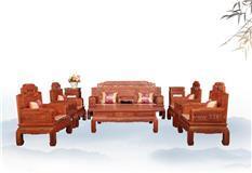非洲花梨锦上添花沙发 七件套113组合