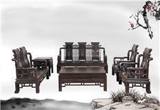 黑紫檀   汉宫沙发10件套