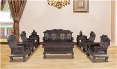 黑紫檀  鸿运沙发10件套