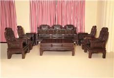 黑紫檀新富豪沙发11件套