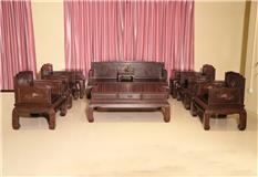 黑紫檀罗汉床沙发11件套