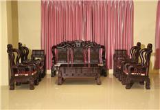 黑紫檀锦绣沙发10件套