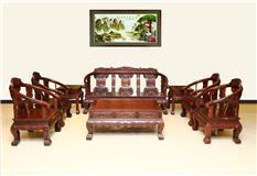东非红酸枝  皇宫椅沙发 8件套