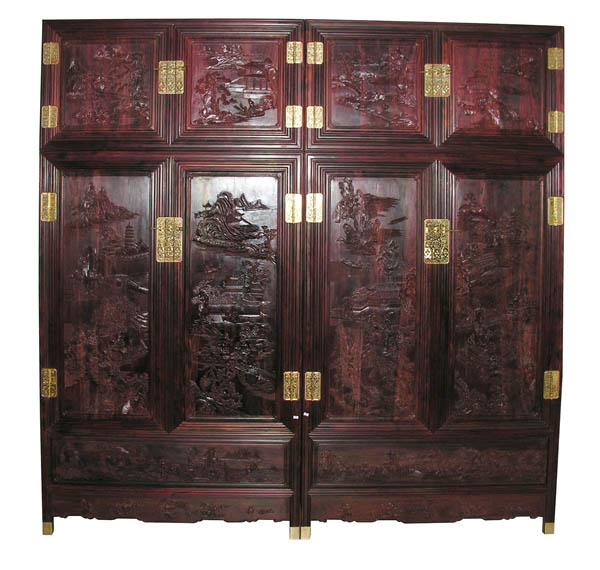 雕花顶箱柜(北京大家之家)