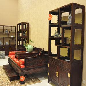 明式仿古精品柜、九龙罗汉床