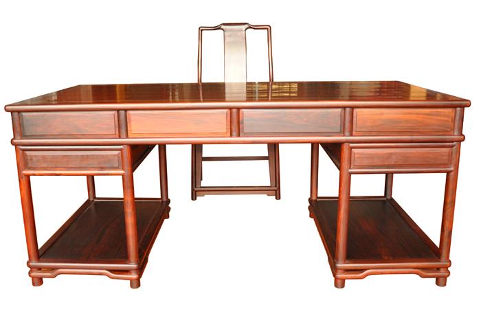 老挝酸枝明式办公桌(福建三福)