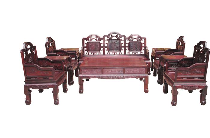 老挝酸枝清乾隆沙发(福建三福)