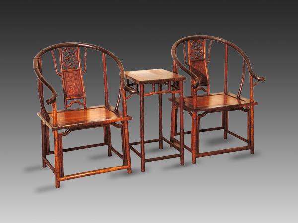 老挝酸枝竹节圈椅(福建三福)