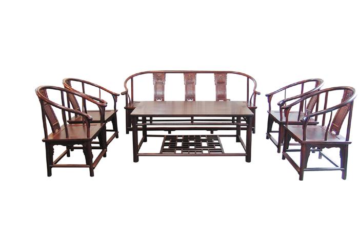 小叶檀明式圈椅沙发(福建三福)