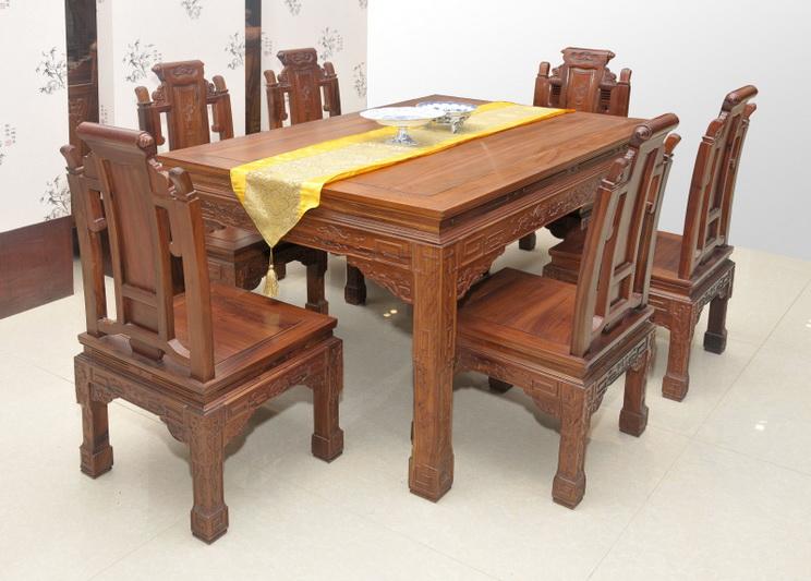 非洲酸枝如意餐桌7套/件