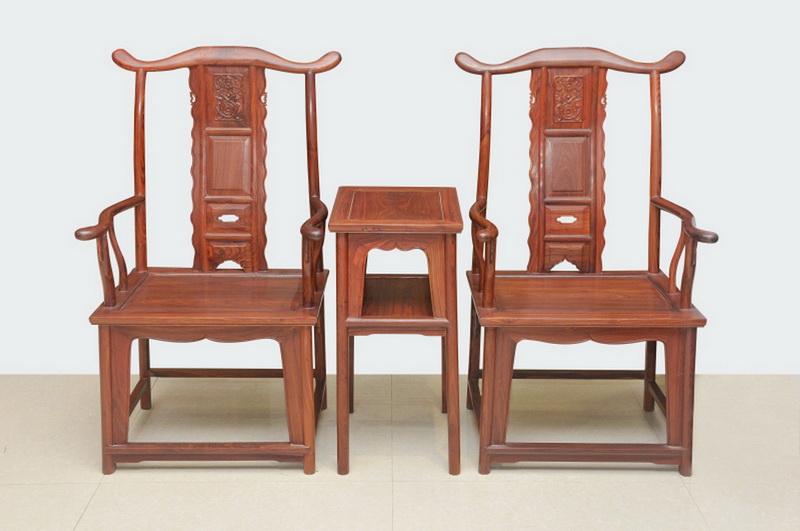 小叶红檀官帽椅3件