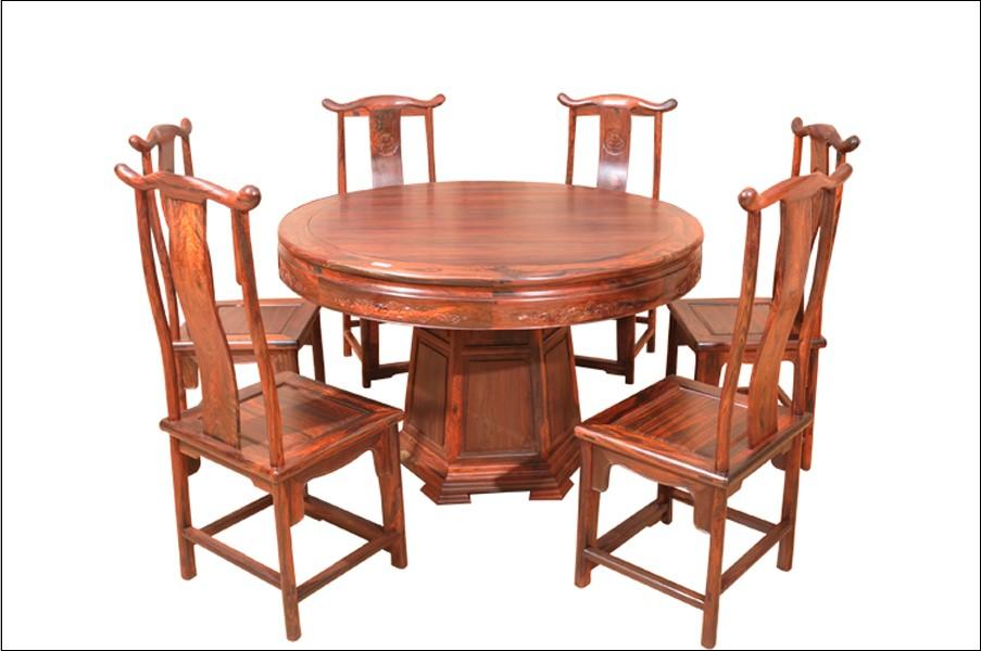 圆台餐桌(鸿运堂)