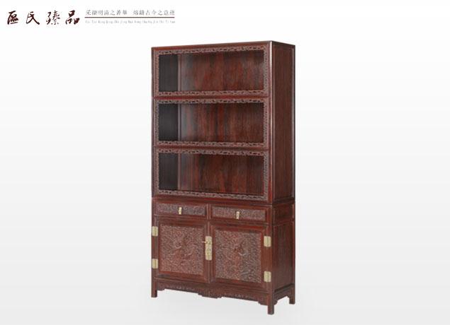 浮雕云龙书柜