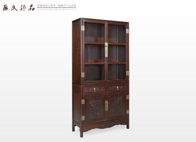 浮雕博古纹书柜