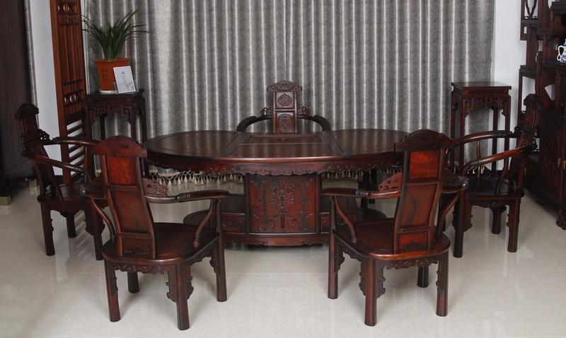 腰形茶台(恒达木业)