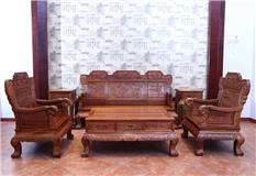 刺猬紫檀 客厅荷花沙发六件套