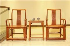 檀雕扇形椅