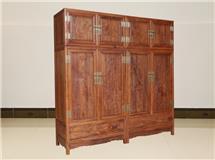 非洲酸枝   檀雕顶箱柜