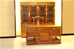 1.60办公台+两门书柜