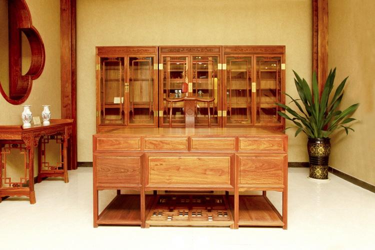 168素板办公台+3组合书柜